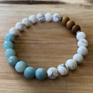 Amazonite and Howlite Diffuser Bracelet